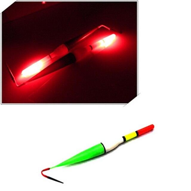 3pcs/set Night Fish Fishing Floats Long Tail Luminous Fishing Floats Bobber Red Flashing LED Light Floats for Fishing