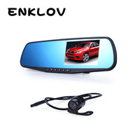 ENKLOV 4 3 Double Lens Car Traveling Data Recorder DVR Black Car Camera 170 Degrees Car