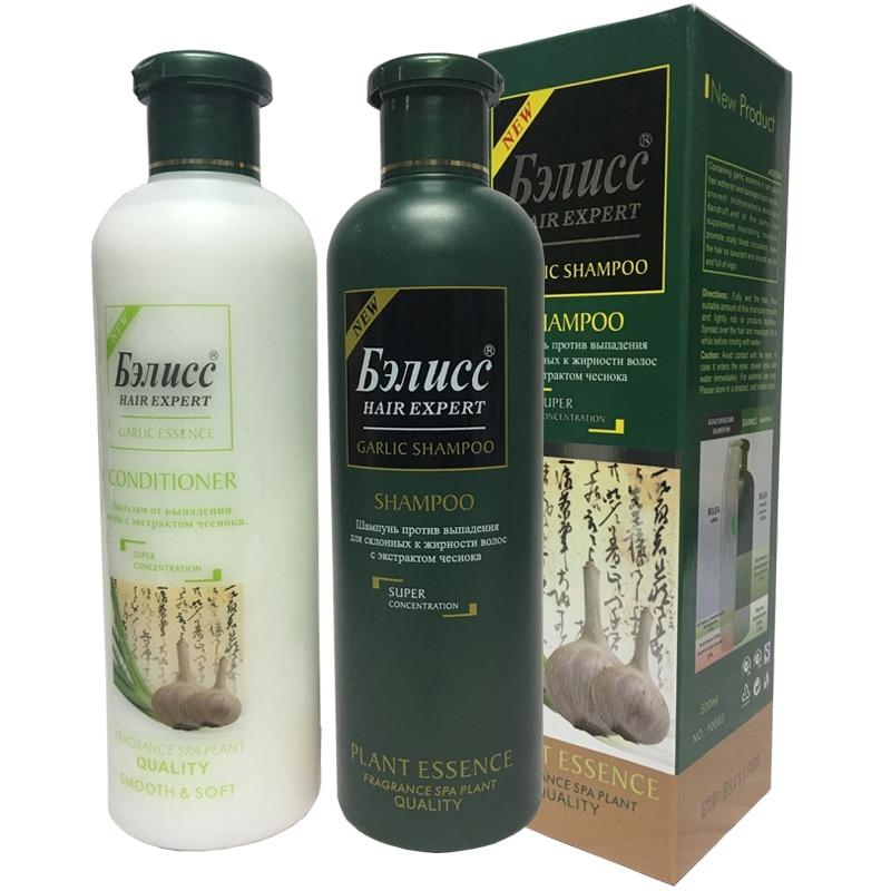 Garlic Shampoo and Hair Conditioner Set Repair Smoothing & Moisturizing Repaire and Protects Damage HairFree Shipping natural hair shampoo and conditioner nourishing hair care set repair damaged perm hair