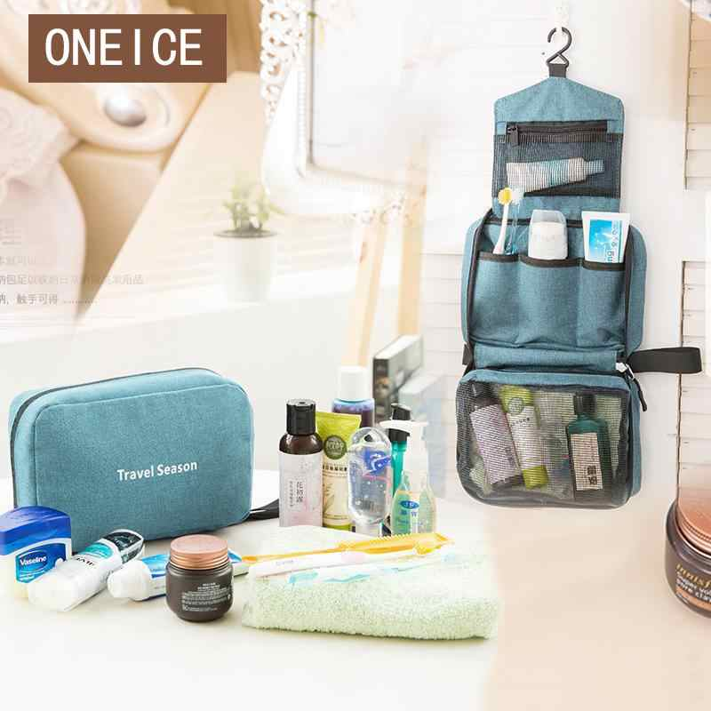 Travel Waterproof  Storage Bag Wash Bag Hanging Folding Cosmetic Bag Portable Toiletries High Quality