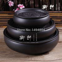 Tea Tray Handmade Yixing Redware(purple clay) Ceramic Tea Sets, Traditional Chinese Tea Tray