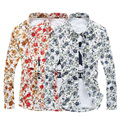 2016 New men shirt flower long-sleeve shirt camisa masculina male spring fashion slim casual shirt print clothing camisa social