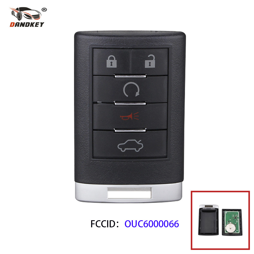 Dandkey 5 Buttons Smart Remote Key Keyless Entry For Cadillac 2006 2011 DTS 2007 2009 SRX 2008 2010 STS OUC6000066 Car Key