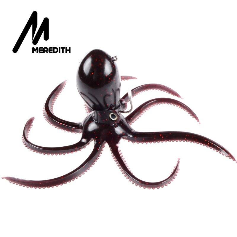 Meredith plomo de pesca 180g 20 cm larga cola suave señuelos de pesca de pulpo a
