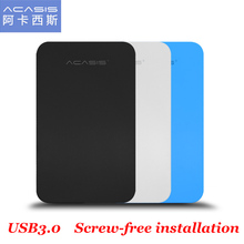 ACASIS FA-07US USB 3.0 to SATA External for 2.5 inch SSD HDD Enclosure Mobile hard disk Box Slim Easy to Carry support 4TB 5Gbps