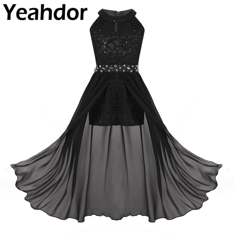 Платье с цветочным узором для девочек платья для девочек с цветочными кружевами, без рукавов, стразы Макси комбинезон платье для свадебной ...