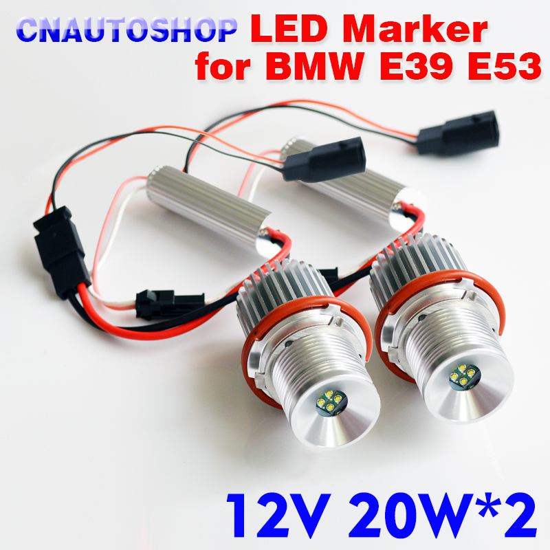 LED Marker 2*20W 40W for CREE LED Chips for Bridgelux Chip Angel Eyes White/Red/Blue/Yellow for BMW E65 E87 E39 E63 E64 E60 E61 цена и фото