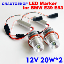 LED Marker 2*20W 40W for CREE LED Chips for Bridgelux Chip Angel Eyes White/Red/Blue/Yellow for BMW E65 E87 E39 E63 E64 E60 E61