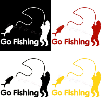 1PCS Funny Car Stickers Go Fishing Outdoor For Car Accessories Decoration for car stickers image