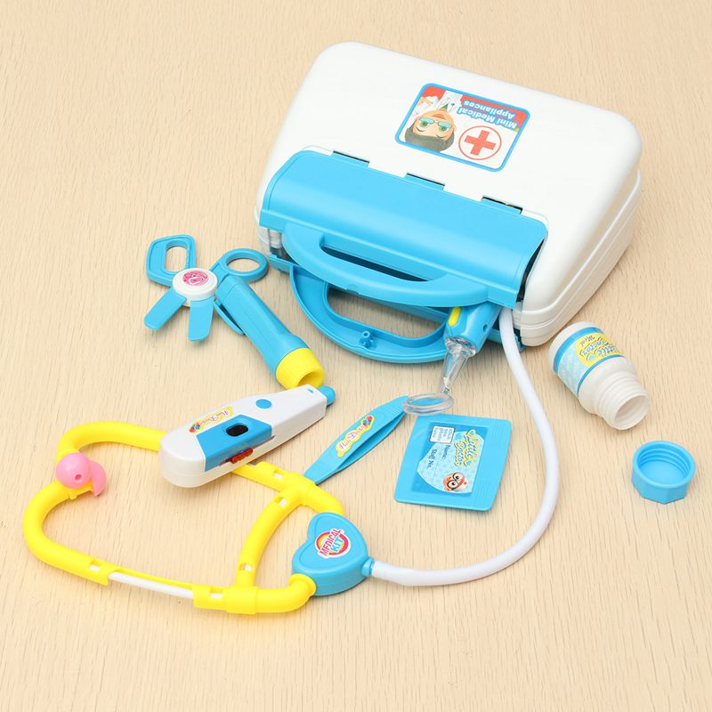 10Pcs Doctor Toys Kids Pretend Play Toys Set For Children Doctor Set Medicine Box Role Play Educational Baby Toy Doctor Kit