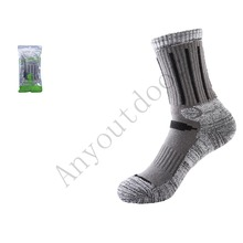 Anyoutdoor Thick Professional Skiing socks Men's  Sports Socks deodorizing antibacterial breathable warmth 3 color One Size