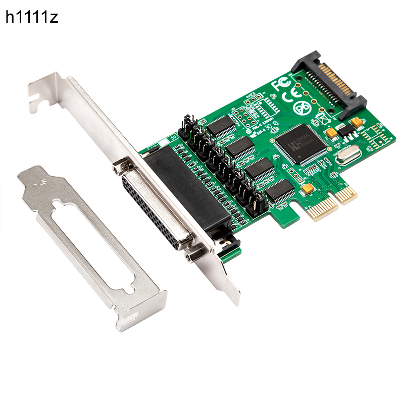 Serial Adapter 4 port RS 232 Serial DB9 PCI Express Adapter RS232 to PCIe Converter Card PCI e RS 232 Expansion Card WCH384 Chip