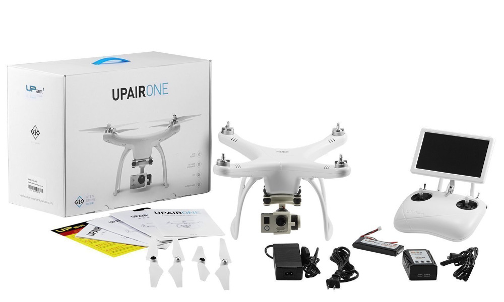UP Air UPair-Chase UPair One 5.8G FPV 4K HD Camera With 2-Axis Gimbal RC Quadcopter Drone VS xiaomi mi drone with two batteries yuneec q500 4k camera with st10 10ch 5 8g transmitter fpv quadcopter drone handheld gimbal case