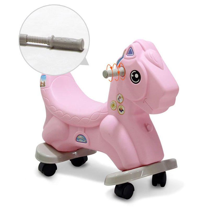 Baby Rocking Horse Plastic Large Size Rocking Chair Dual-use Ride on Animal Toys 1-6 Years Riding Horse Toy Kids Ride on Toys children rocking horse gift baby eating chair music ride on toy cute duck birthday walker amphibious toys 2 kinds of functions