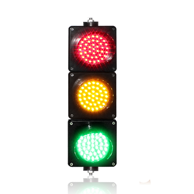 DC12V School Education 100mm PC Housing Red Yellow Green LED Traffic Signal Light For Promotion
