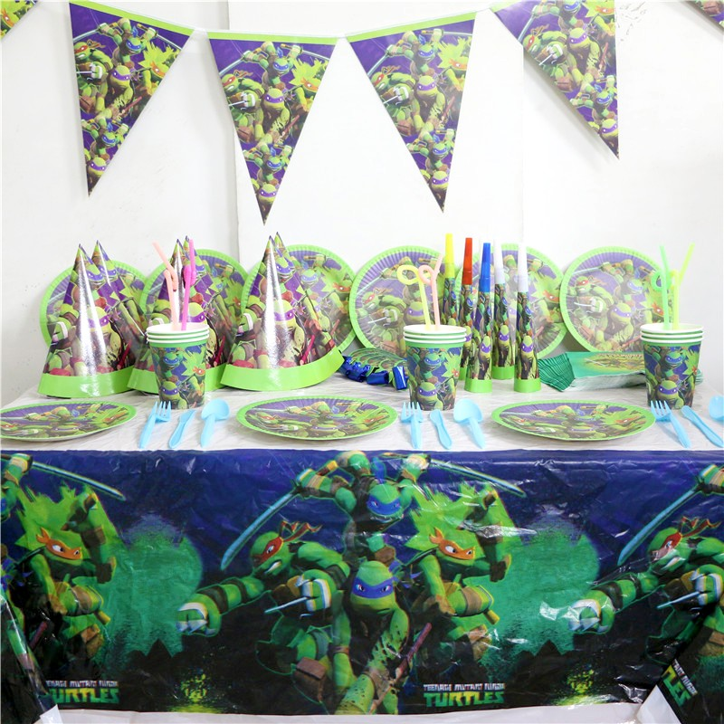 94pc Decorative Party Ninja Turtle Gift Bags Drawstring Bag Kids ...