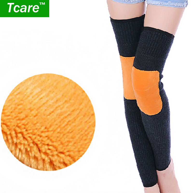 Tcare 1pair Women Keep warm Knee High Elastic Body Shaper Outdoor Cashmere Knee Leg Warmer Keep Warm Legging Kneepad Health Care