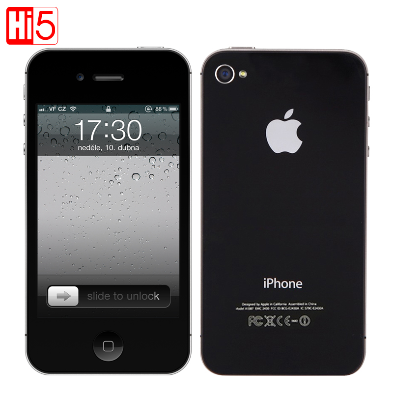 Apple iPhone 4S factory Unlocked Mobile Phone ios Touchscreen 16GB 3G WIFI GPS 8MP 1080P IPS