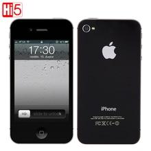 Apple iphone 4s factory unlocked мобильный телефон ios сенсорный 16 ГБ 3 г wi-fi gps 8mp 1080 P ips бесплатная доставка бесплатная подарок