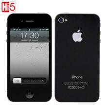 Apple iphone 4S фабрики разблокированный мобильный телефон IOS сенсорный экран 16 ГБ 3 г Wi-Fi GPS 8MP 1080 P IPS Бесплатная доставка подарок, бесплатная доставка
