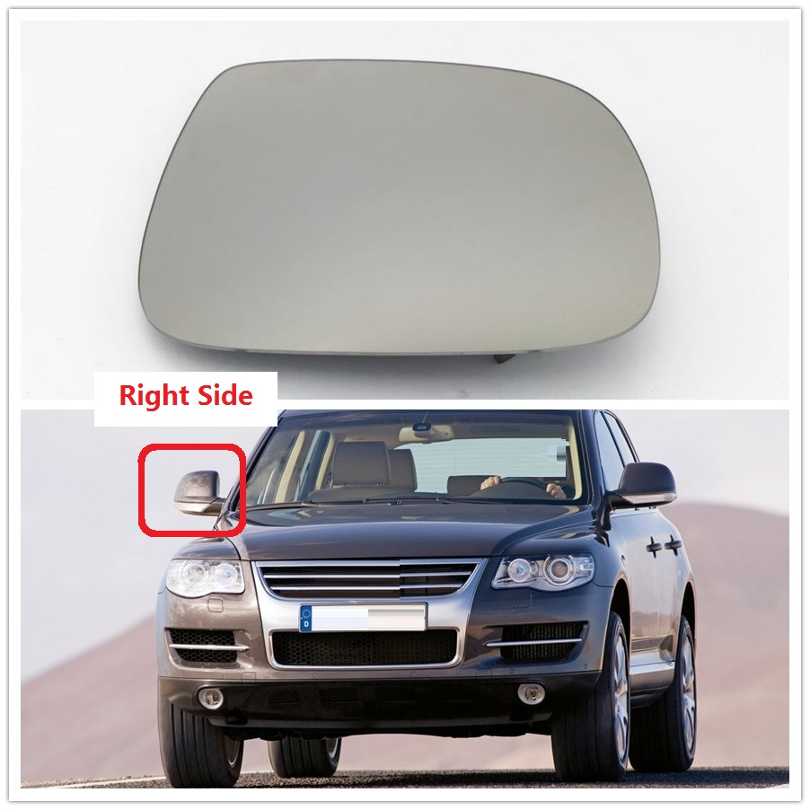 Heated Door Mirror Glass and Backing Plate RIGHT fits 2011-2018 VW Touareg