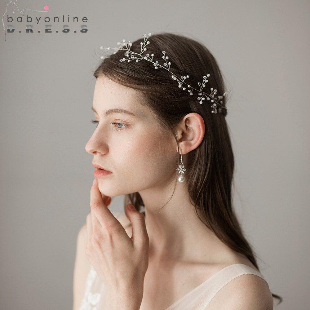 Hair Piece For Wedding Updo: New 2019 Simple Beaded Bridal Headwear Wedding Hair