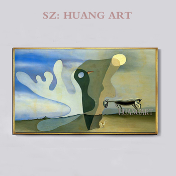 Original hand-drawn abstract Spain Salvador Dali Wall Art Canvas Painting Surreal Abstract Picture For Living Room Decoration