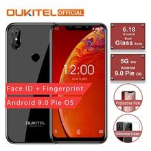 "OUKITEL C13 Pro 6.18"" 19:9 2GB 16GB Android 9.0 Mobile Phone 5G/2.4G WIFI MT6739 Quad Core 4G LTE Smartphone Face ID Fingerprint"