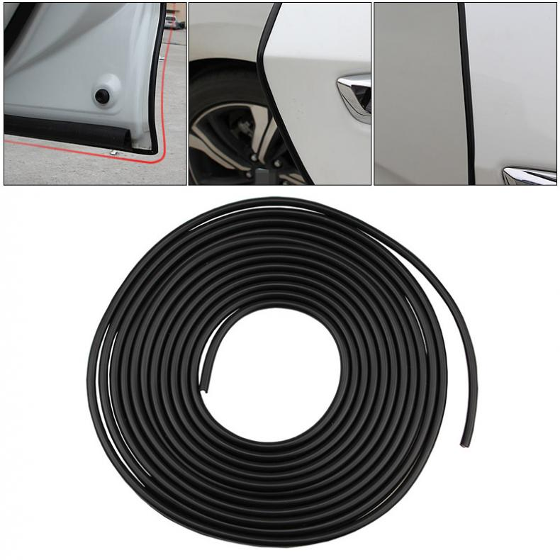 Black Car Door Edge Guard Strip Scratch Protector Anti-collision Trim Sticker
