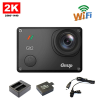 Original Gitup Git2 Novatek 96660 1080P WiFi 2K Outdoor Sport Action Camera Extra 1pcs 950mAh Battery