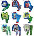 Novas Crianças pijamas meninos sleepwear padrão dos desenhos animados crianças roupas de algodão 100% crianças de 9 projetos pijama para 1 ~ 7 anos crianças