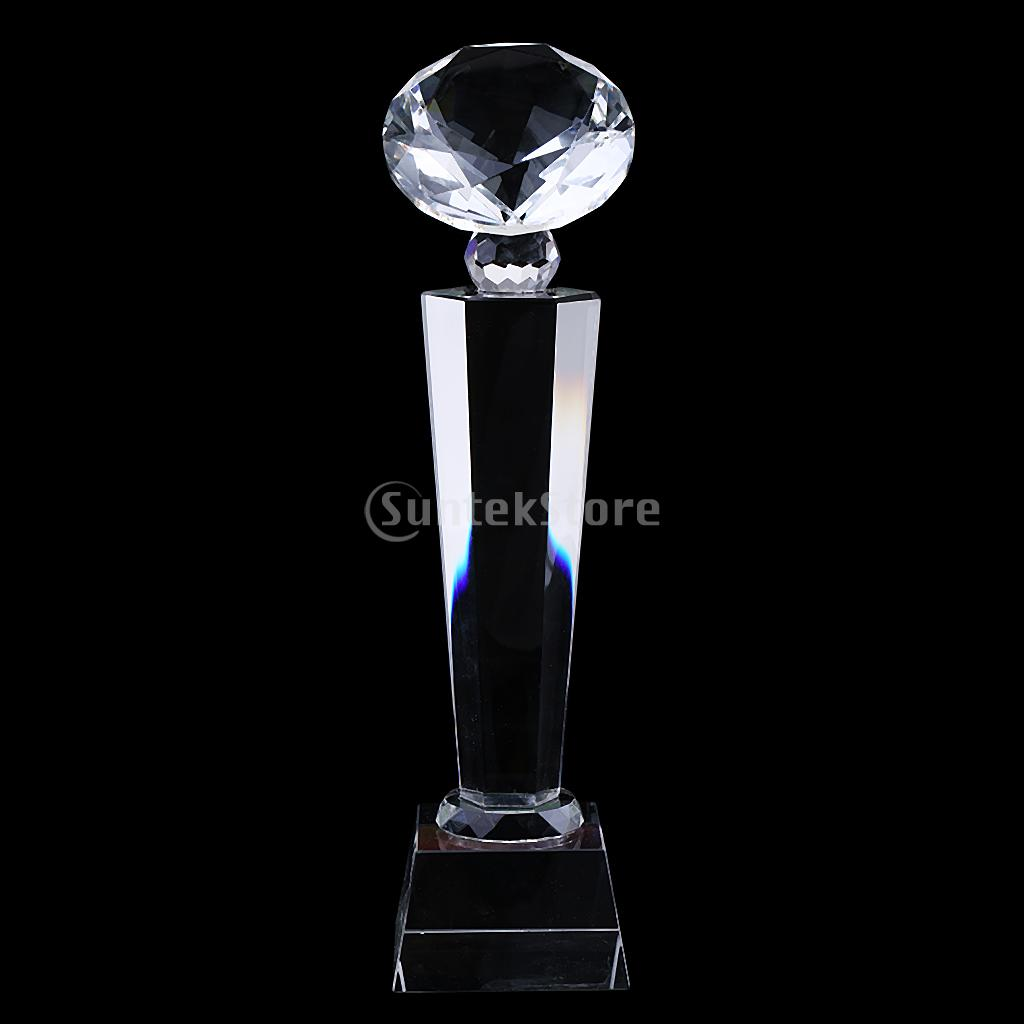 27cm Diamond Tops Crystal Trophy Cup Encourage Souvenir For Championship 1Pc