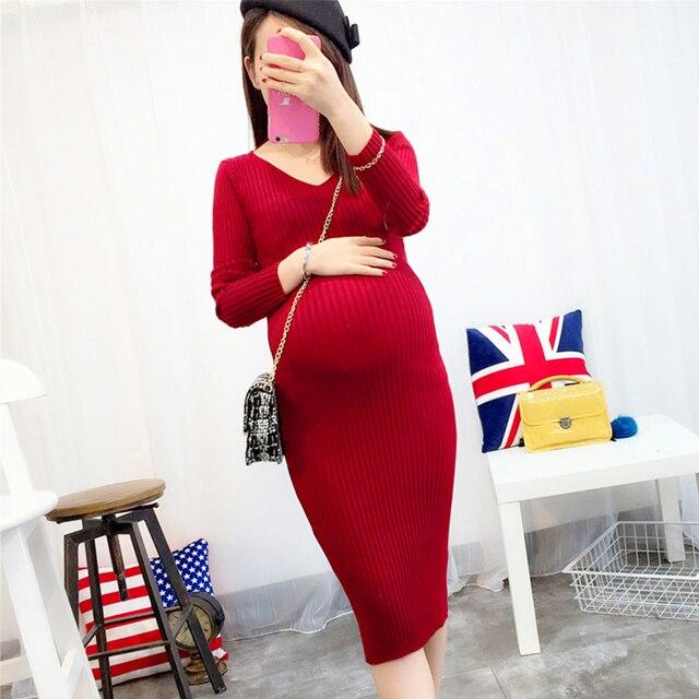 5f8477e7e Las mujeres embarazadas lactancia materna maternidad formal mujeres otoño  invierno dress premama elegante ropa de maternidad