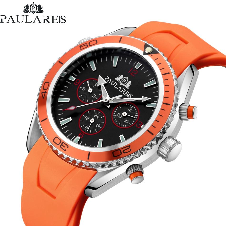 HTB1LIUDjhrI8KJjy0Fpq6z5hVXaL Men Automatic Self Wind Mechanical Stainless Steel Strap James Bond 007 Style Orange Blue Black Dial Bezel Classic Watch