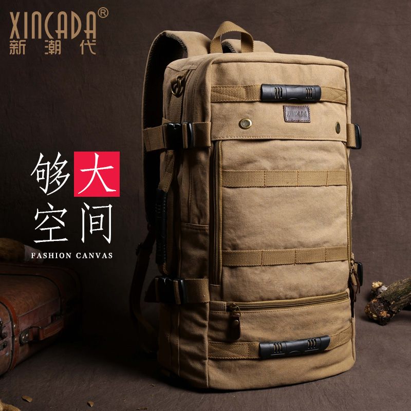 XINCADA men canvas laptop backpack Capacity student Schoolbag waterproof antitheft backpacks  travel Casual Fashion bagXINCADA men canvas laptop backpack Capacity student Schoolbag waterproof antitheft backpacks  travel Casual Fashion bag