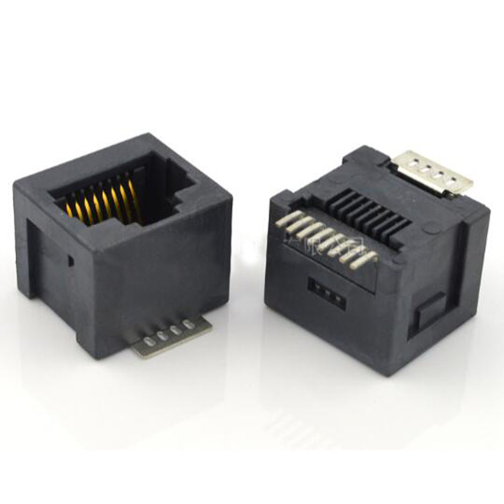 10pcs 5224 Vertical SMT RJ45 Network Socket SMT 180 Degree 8P8C RJ45 Jack Interface Connector
