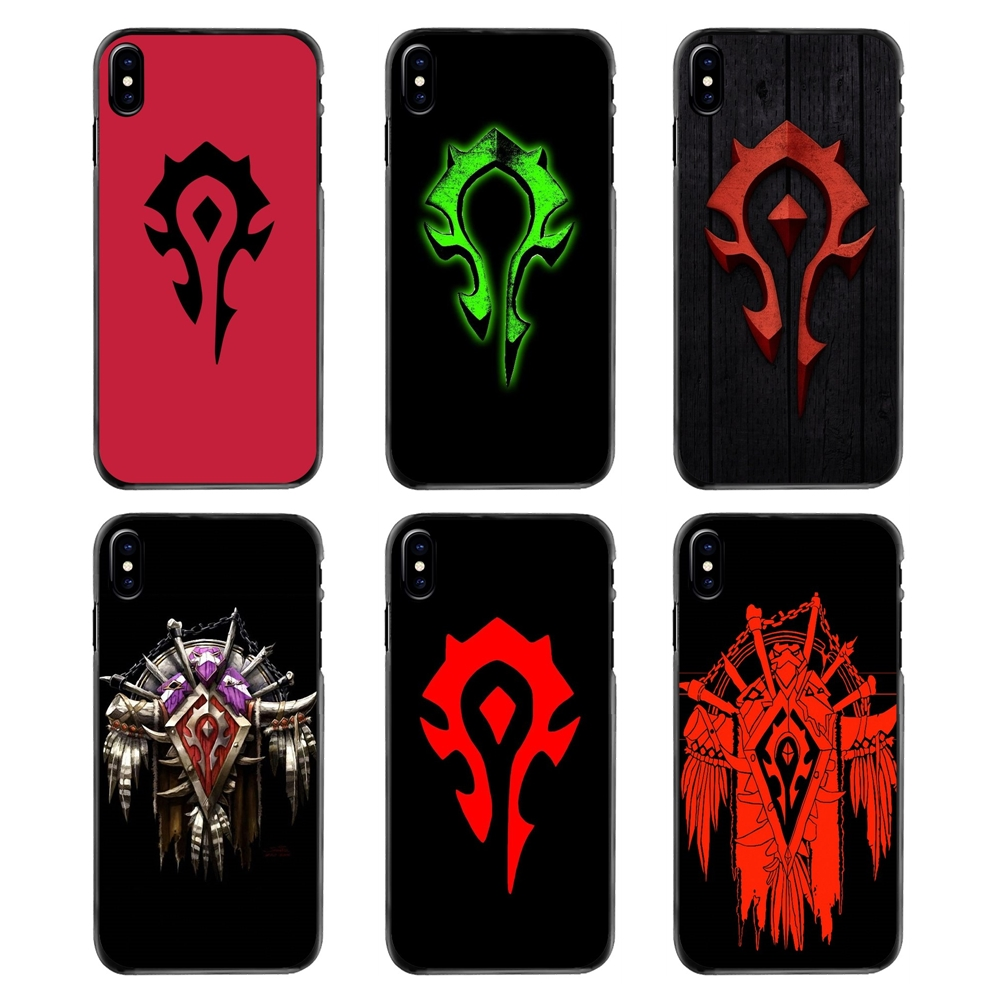Plastic Black Cover Case Game WOW World Of Warcraft Horde For Samsung Galaxy Note 2 3 4 5 S2 S3 S4 S5 MINI S6 S7 Edge S9 S8 Plus