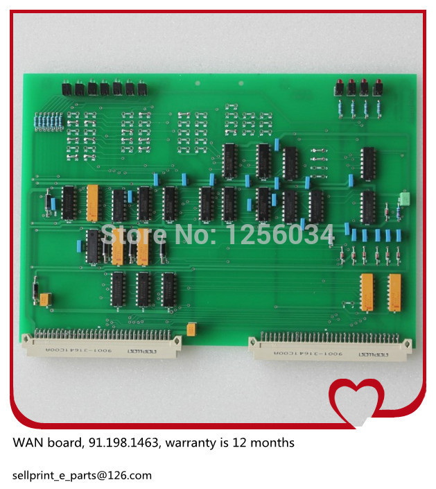 2 pieces high quality water roller motor driver board WAN 91.198.1463, 12 months warranty