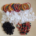 Tattoo Accessories Ink Cups 100pcs White 9MM/Tattoo Silicone O Rings/Tattoo Grommets/Tattoo Rubber Bands machine free shipping