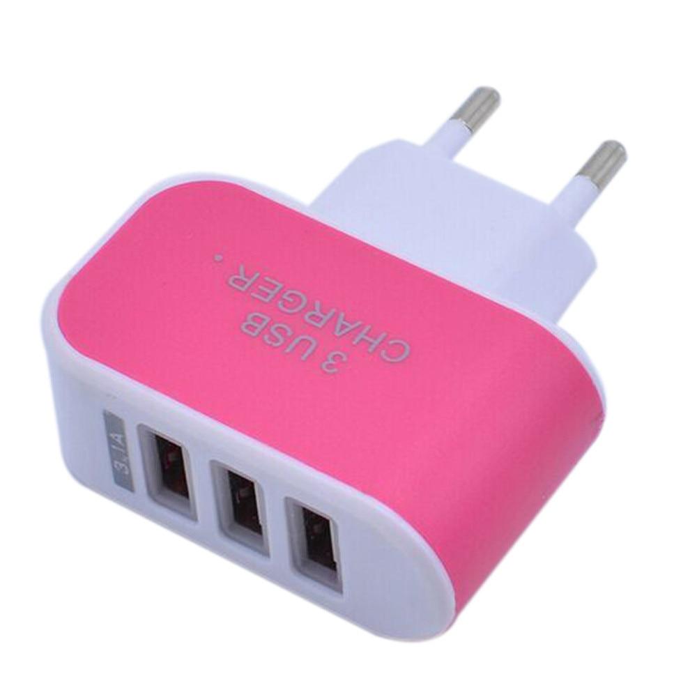 1 шт. 3.1a Трехместный USB Порты и разъёмы Зарядное устройство перемещения дома стены AC Зарядное устройство адаптер с ЕС Разъем для iPhone смартфон...