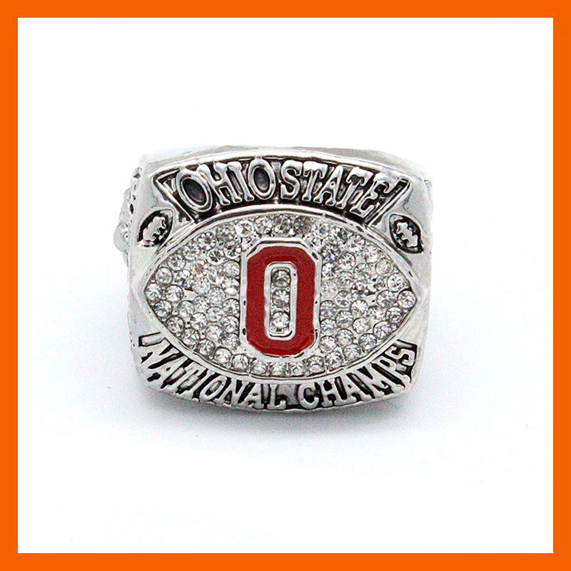 2002 OHIO STATE UNIVERSITY BUCKEYES NATIONAL CHAMPIONSHIP UNIVERSITY FOOTBALL RING REPLICA SIZE 11