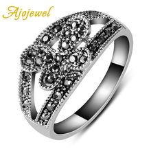Size 7-9 Free Shipping Bar Setting Vintage White Gold Plated Flower Ring