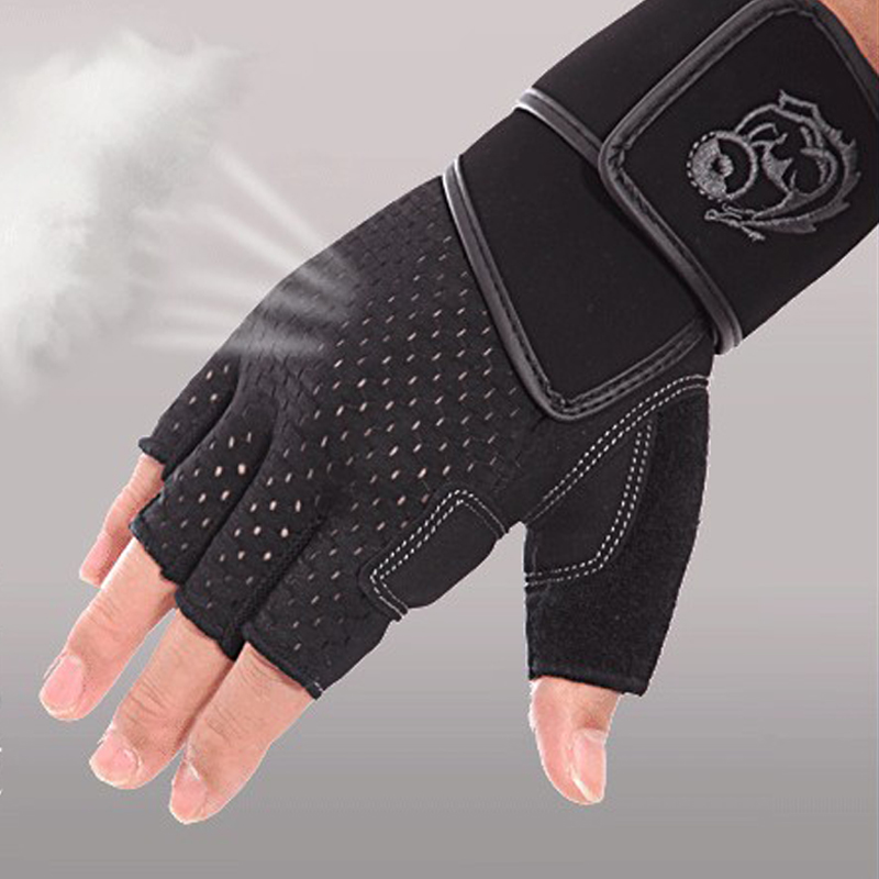 Gym Gloves Weight Lifting Leather Workout Wrist Support: Weight Lifting Gloves Soft Leather Gym Gloves With Wrist