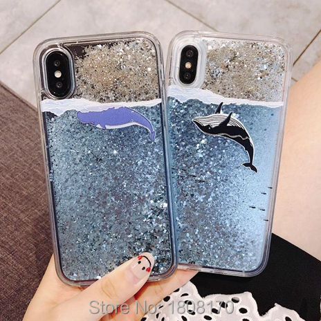 Liquid Dolphin TPU PC Case For Iphone X XR 8 7 6 6S Plus For Xiaomi MI 5X A1 6X A2 MIX2S MIX 2S 8 Redmi 5 Plus NOTE5 Cover 1pcs