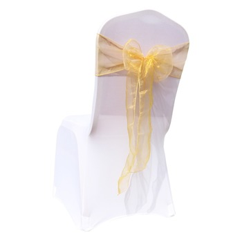1 Pc Organza Bow For Banquet Chairs 3 Chair And Sofa Covers