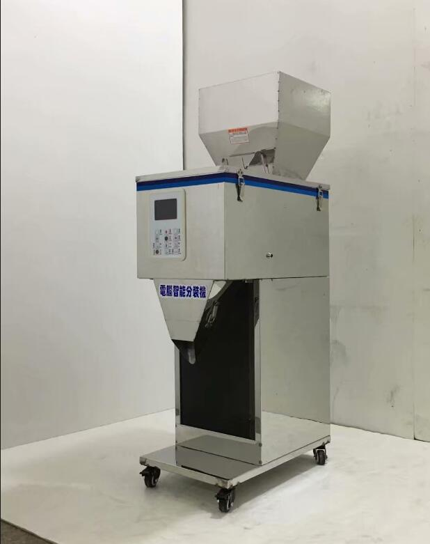 Food racking machine Granular powder materials weighing packing machine filling machine installed Double vibrator 1 1000g