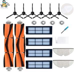 Image 1 - Multi set brush mop cloths HEPA filter for Xiaomi Roborock S5 S6  S50 S55 S1 Xiaowa E25 E35 Xiaomi vacuum cleaner accessories