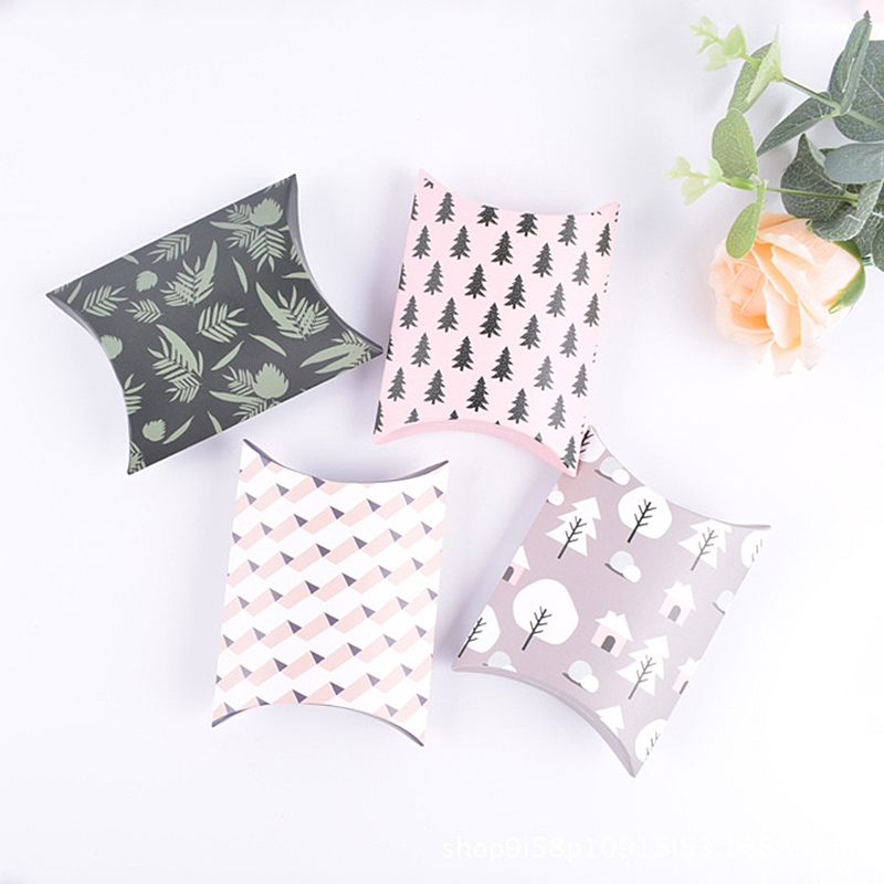1pc Mini Forest Theme Beautifully Wrapped Pillow Case Small Gift Package Christmas New Year Birthday Party Hand Held Candy Boxes