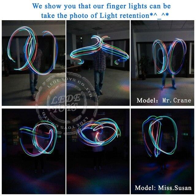 100pcs/lot LED finger Ring lights 4 color Laser finger lamp for party/birthday/Chistmas decoration LED finger light