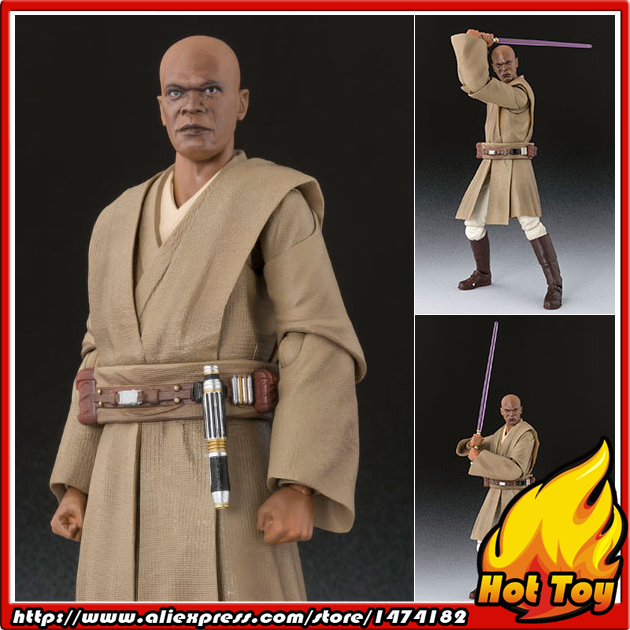 Original BANDAI Tamashii Nations S.H.Figuarts (SHF) Action Figure - Mace Windu from